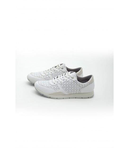 Кросівки білі з перфорацією на шнурівці - Respected-Person