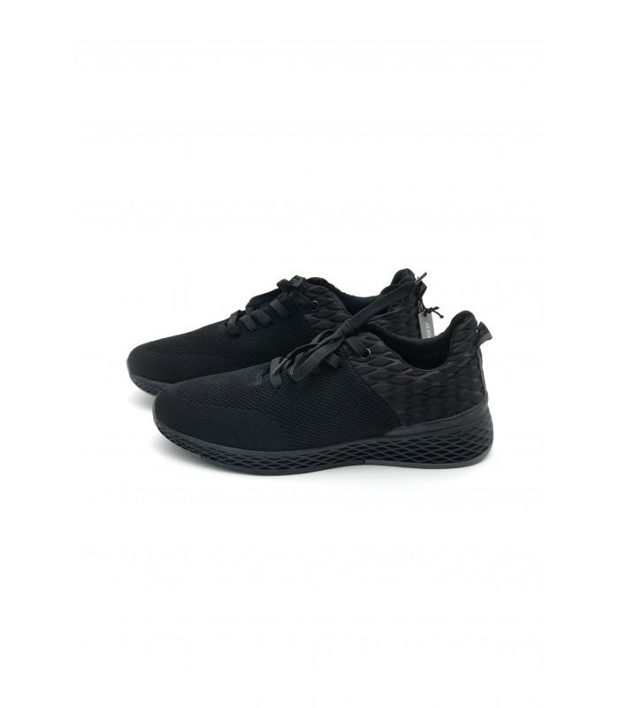 Кросівки чорні текстильні на рельєфній підошві