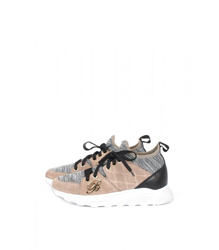 Кросівки сірі стрейчеві