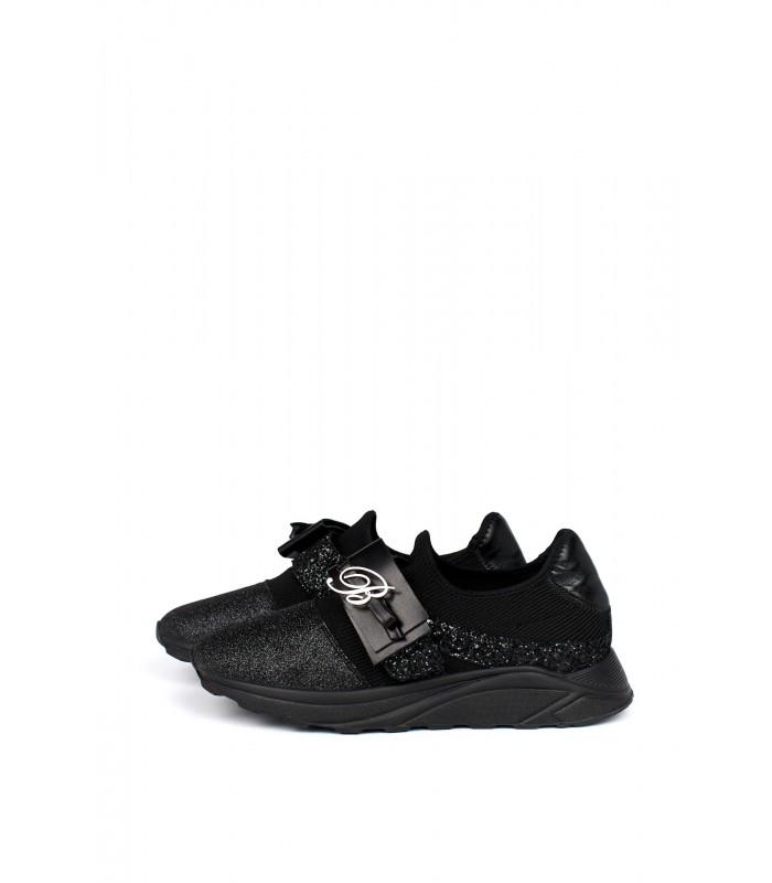 Кросівки чорні з глітером