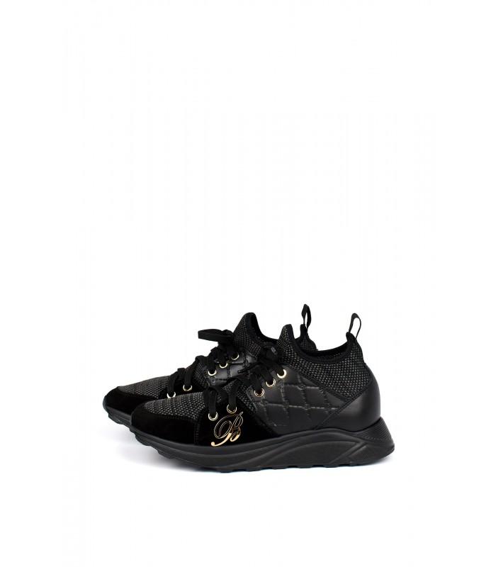 Кросівки чорні стрейчеві