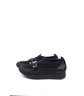 Кросівки чорні текстильні з камінням - Respected-Person
