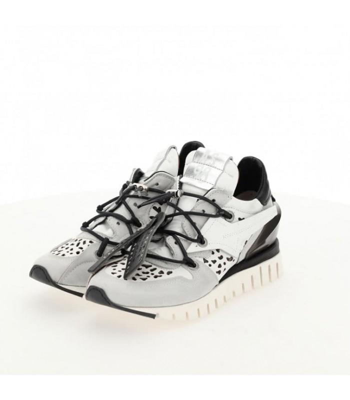 Кросівки біло-сірі з перфорацією
