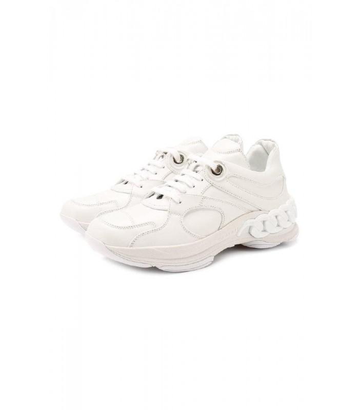 Кросівки білі шкіряні з ланцюгом