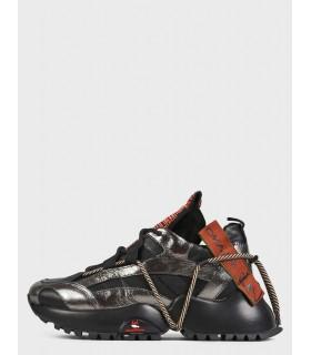 Кросівки чорні із сріблом на шнурівці - Respected-Person