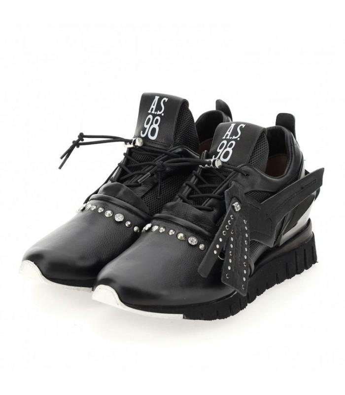 Кросівки чорні комбіновані