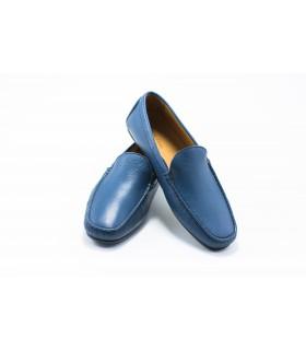 Мокасини чоловічі сині шкіряні - Respected-Person
