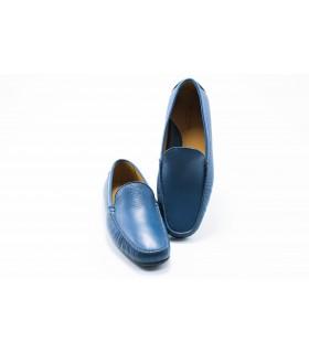Мокасини чоловічі сині шкіряні 1 - Respected-Person