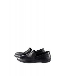 Мокасини-лофери чорні з натуральної м'якої шкіри - Respected-Person