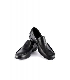 Мокасини-лофери чорні з натуральної м'якої шкіри 1 - Respected-Person