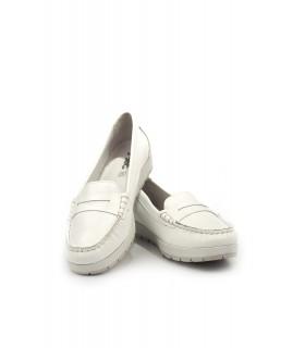Мокасини білі з лакованої шкіри 1 - Respected-Person