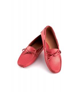 Мокасини жіночі червоні з перфорацією 1 - Respected-Person