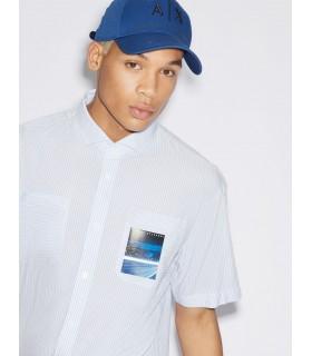 Теніска біла в блакитну смужку 1 - Respected-Person