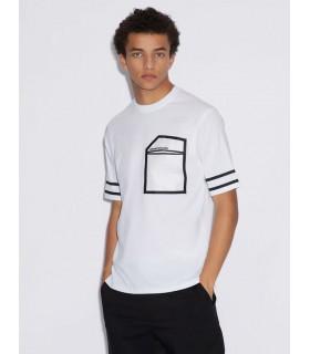 Футболка біла з чорною кишенею - Respected-Person