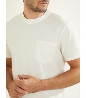 Футболка біла чоловіча з кишеньою  1 - Respected-Person