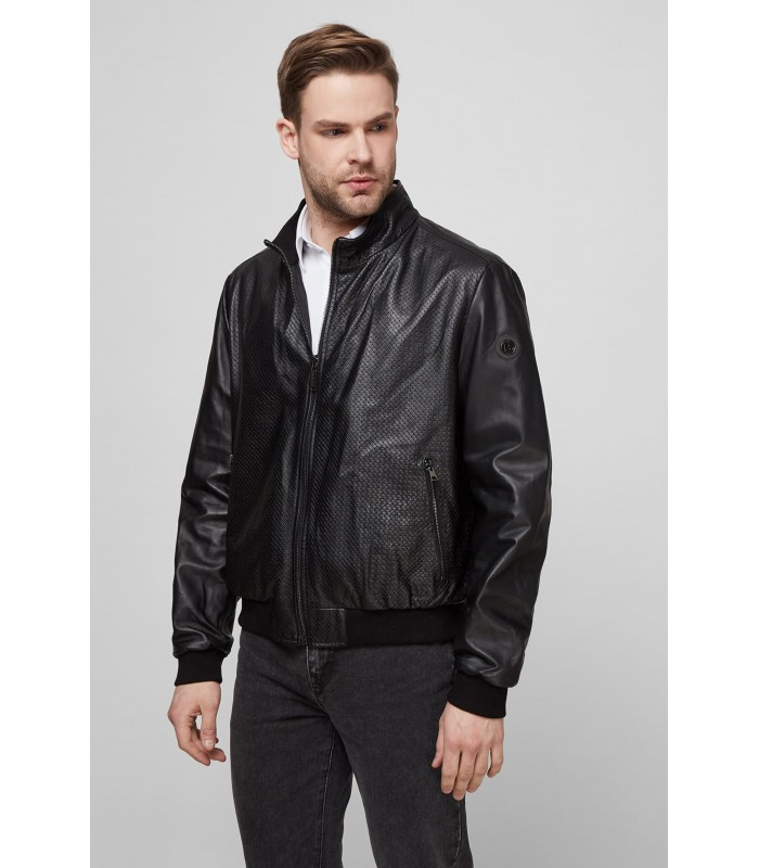 Куртка чоловіча шкіряна чорна