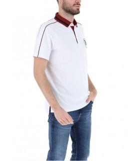 Поло біле з червоним коміром 1 - Respected-Person