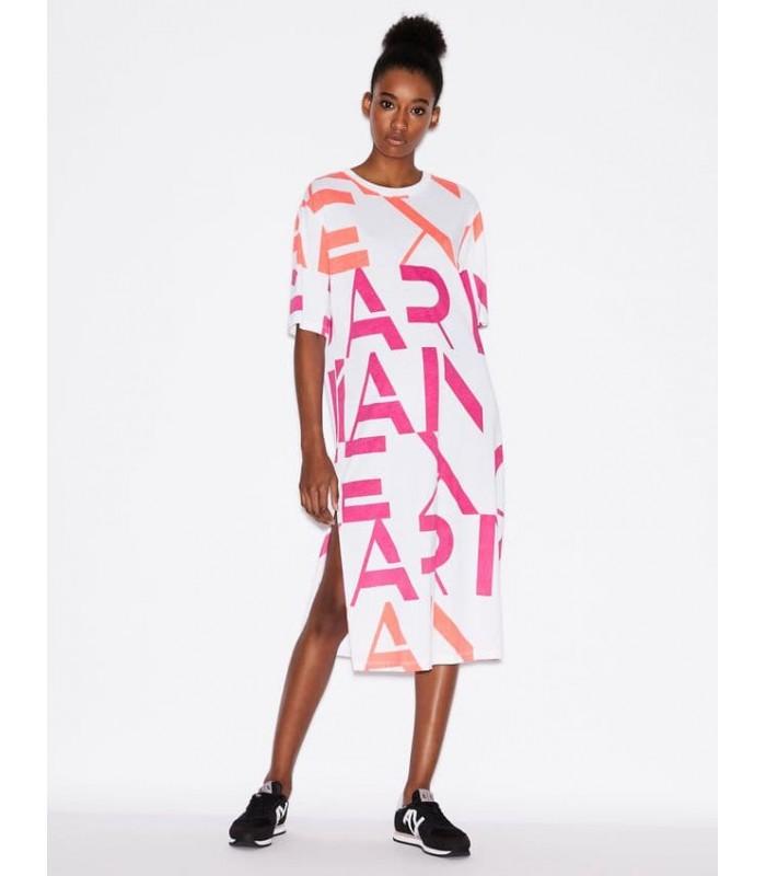 Сукня біла з різнокольоровими буквами