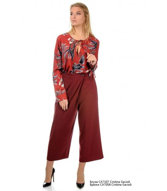 Блуза бордова  в квіти - Respected-Person
