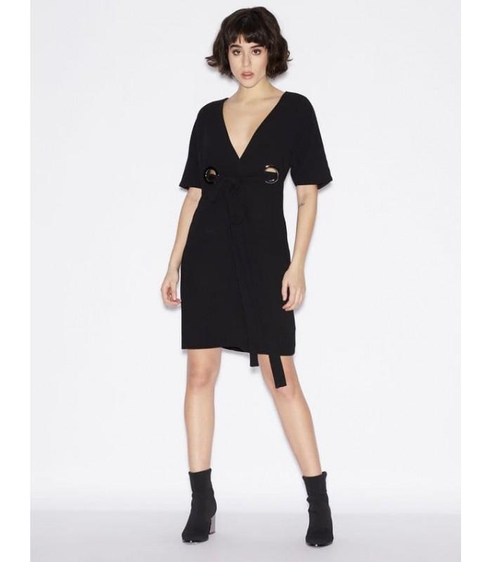Сукня чорна з кільцями
