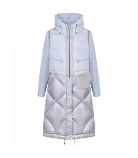 Пальто-жилетка сіро-блакитне прострочене  - Respected-Person