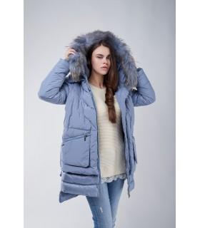 Куртка блакитна з накладними карманами - Respected-Person