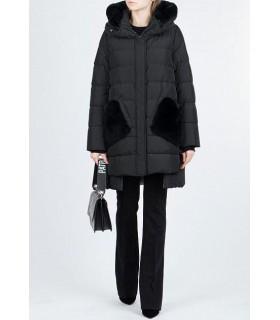 Куртка чорна з кишенями з хутра 1 - Respected-Person