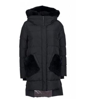 Куртка чорна з кишенями з хутра - Respected-Person