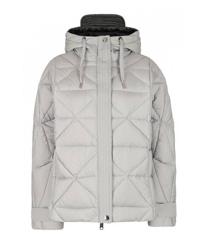 Куртка-пуховик сіра в ромби