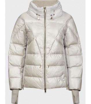 Куртка перлинна з трикотажними вставками
