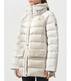 Куртка перлинна з кишенями з хутра - Respected-Person