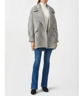 "Пальто сіре з принтом ""гусячої лапки"" 1 - Respected-Person"