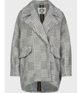 "Пальто сіре з принтом ""гусячої лапки"" - Respected-Person"