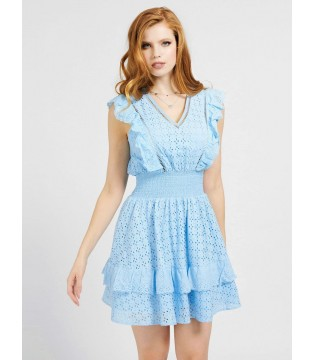 Сукня блакитна з батисту коротке
