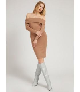 Сукня темно-бежева трикотажна - Respected-Person