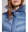 Куртка-пуховик синя довга 3 - Respected-Person