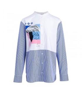 Сорочка біло-синя подовжена 1 - Respected-Person