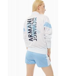 Бомбер білий з блакитним спортивний - Respected-Person