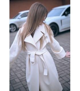 Пальто молочне з поясом 1 - Respected-Person