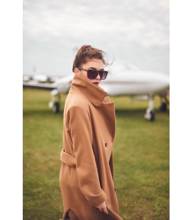 Пальто коричневе з гудзиками 1 - Respected-Person