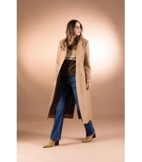 Пальто коричневе приталене - Respected-Person
