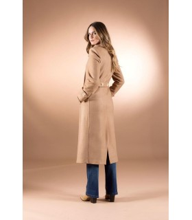 Пальто коричневе приталене 1 - Respected-Person