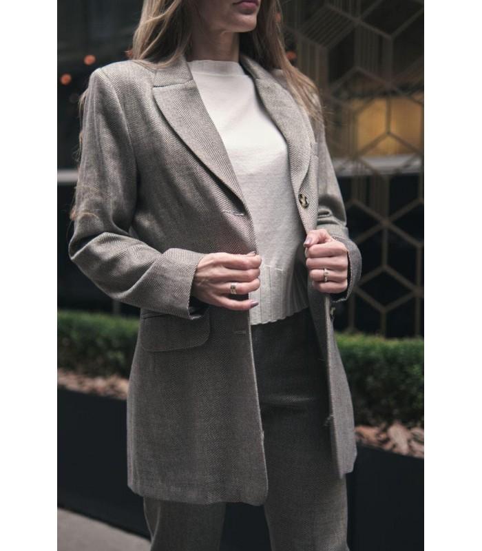Піджак сірий подовжений