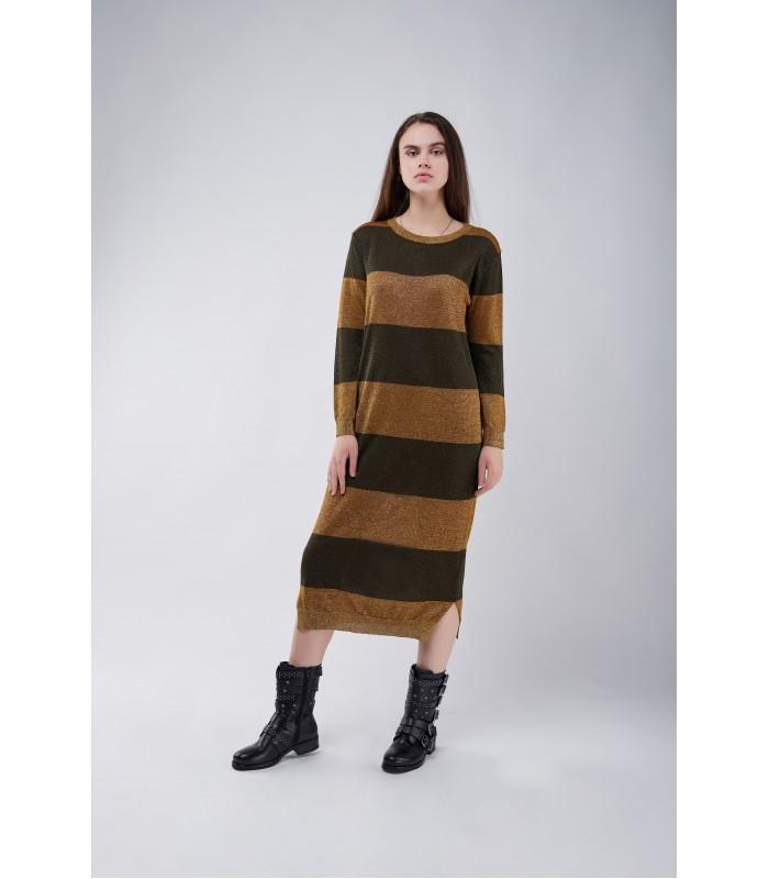 Сукня в смужки з люрексом
