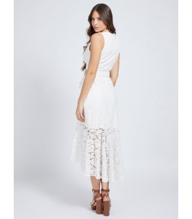 Сукня біла ажурна довга 1 - Respected-Person