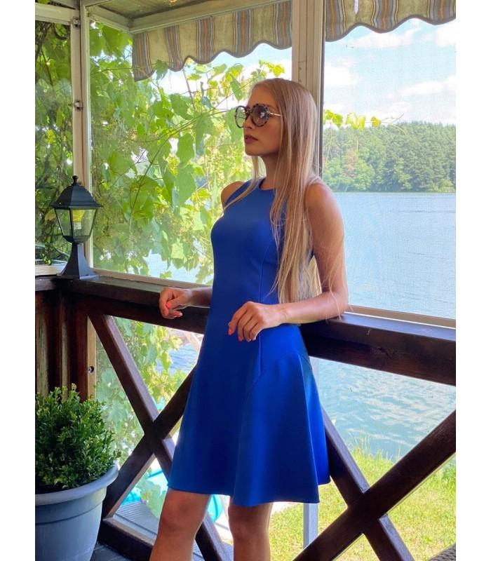 Сукня синя силуетна
