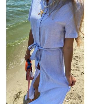 Сукня біло-синя довга