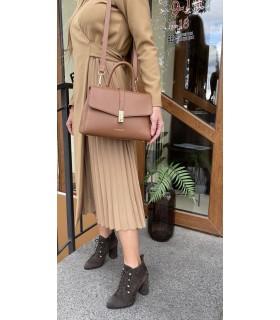Сукня довга на запах коричнева - Respected-Person