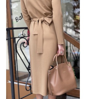 Сукня довга на запах коричнева 1 - Respected-Person