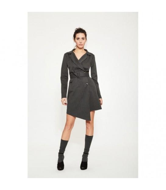 Сукня-піджак сіра в смужку - Respected-Person